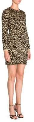 Miu Miu Lurex Leopard Print Bodycon Dress