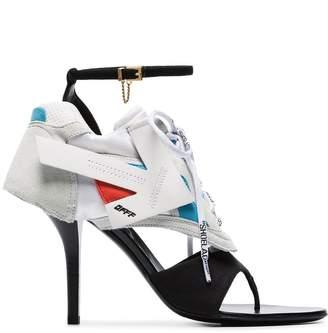 Off-White white Runner 100 hybrid leather sneaker-sandals
