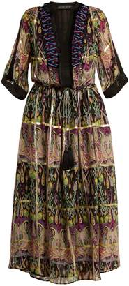 Etro Embellished silk-blend chiffon dress