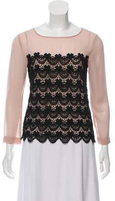 Philosophy di Alberta Ferretti Long Sleeve Lace Blouse