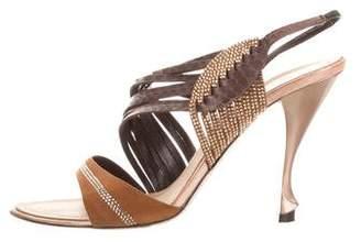 Rene Caovilla Embellished High-Heel Sandals