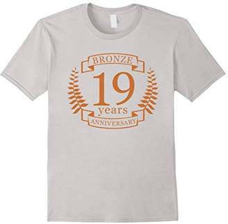 Bronze 19 Years Wedding Anniversary t-shirt