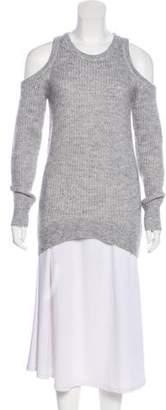 Michael Kors Cold-Shoulder Lightweight Sweater