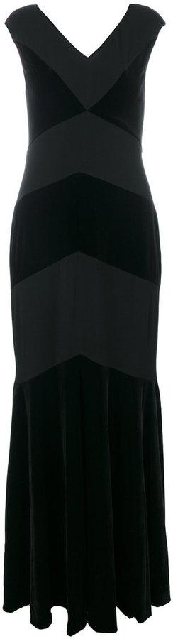 Ralph Lauren V-neck evening dress
