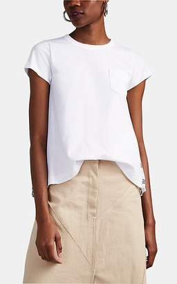 Sacai Women's Bandana-Back Cotton Trapeze T-Shirt - White