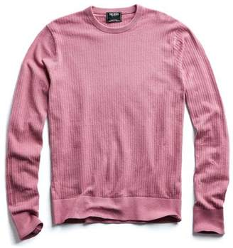 Todd Snyder Cotton Crew Neck in Pink