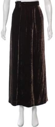Oscar de la Renta Velvet Maxi Skirt
