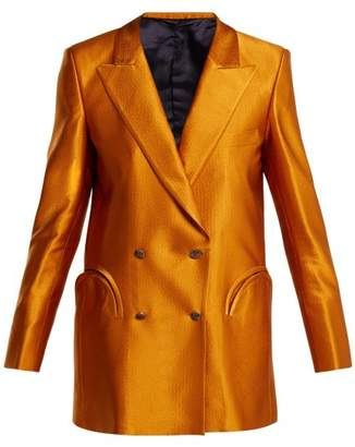 Fly London Blazé Milano Blaze Milano - Let's Double Breasted Silk Faille Blazer - Womens - Dark Orange
