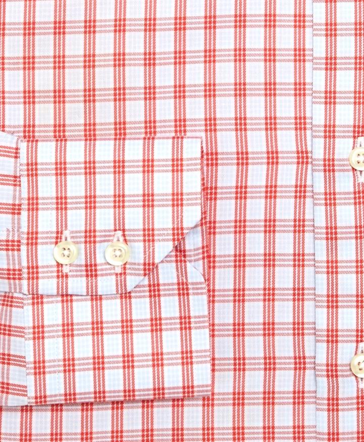 Brooks Brothers Egyptian Cotton Regular Fit Twill Triple Windowpane Luxury Dress Shirt