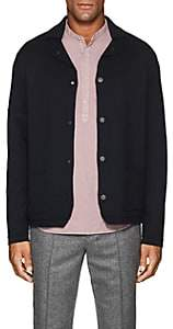 Barneys New York Men's Wool Jacket-Style Cardigan - Navy