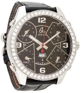 Jacob & co Five Time Zone Diamond Watch