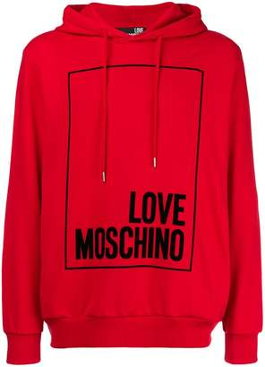 Love Moschino logo hooded sweatshirt