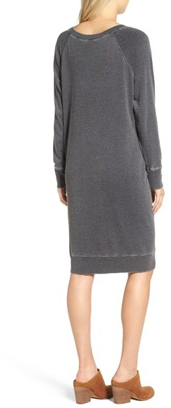 Women's Treasure & Bond Off The Shoulder Fleece Knit Dress 2