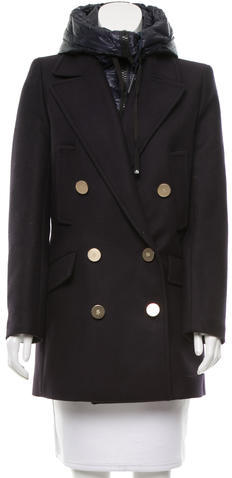 Moncler Moncler Galatea Double-Breasted Coat w/ Tags