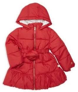Kate Spade Little Girl's Rosette Puffer Down Jacket