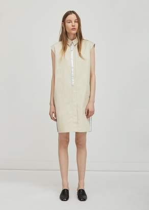 Paco Rabanne Sleeveless Shirt Dress Sand