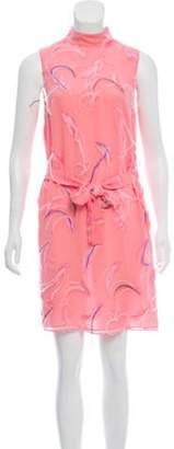 Emilio Pucci Feather-Accented Dress Pink Feather-Accented Dress