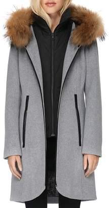 Soia & Kyo Charlena Fur Trim Coat - 100% Exclusive