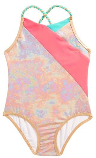 LITTLE MARC JACOBS Iridescent One-Piece Swimsuit