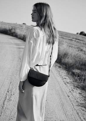 MANGO Twisted long strap bag black - One size - Women