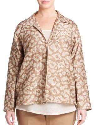 Lafayette 148 New York Embroidered Jacquard Jacket