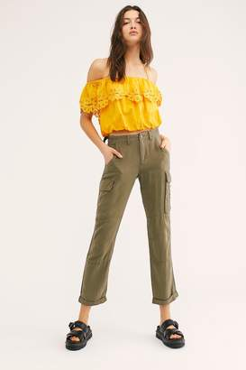 Danang Rolled-Up Silk Cargo Pants