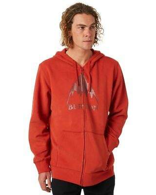 Burton New Men's Classic Mountain High Full Zip Mens Hoodie Cotton Polyester Red