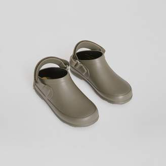 Burberry Childrens Check Detail Rubber Sandals