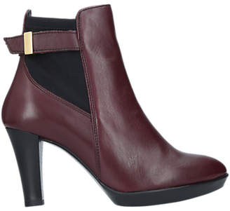 Carvela Comfort Rae Cone Heeled Ankle Boots, Red Leather
