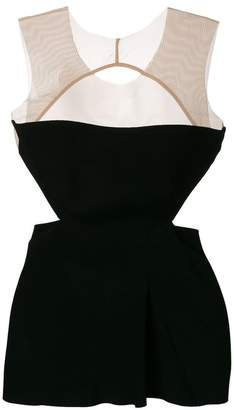 Rick Owens cut-out detail sleeveless top