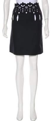 Chloé Eyelet Knee-Length Skirt