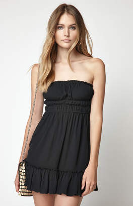 KENDALL + KYLIE Lottie Moss Cinched Waist Tube Top Dress