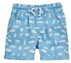 F&F Car Print Drawstring Shorts 4-5 years