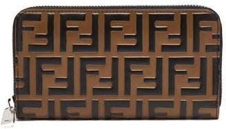 Fendi - Logo Embossed Leather Wallet - Mens - Brown