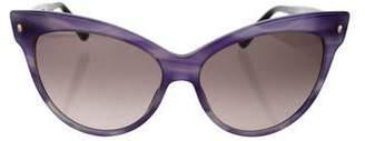 11b8d5c97aa0 Dior Black Cat-eye Sunglasses - ShopStyle