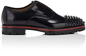 ffa05166f74 Christian Louboutin Men s Alpha-Pointe Flat Spazzolato Leather Laceless  Balmorals - Black