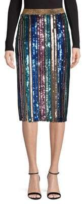 Topshop PETITE Sequin Stripe Pencil Skirt