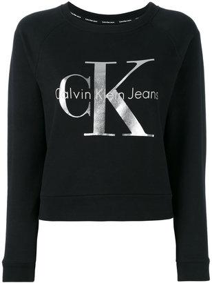 Calvin Klein Jeans metallic logo sweatshirt $98.95 thestylecure.com