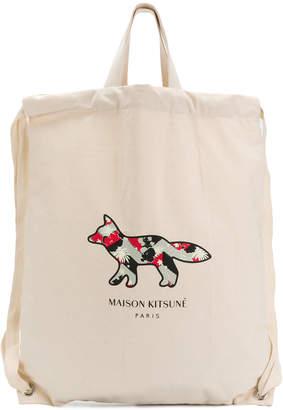 MAISON KITSUNÉ Venice Fox tote backpack