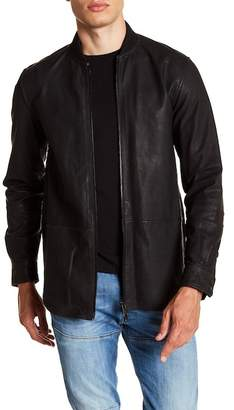 Diesel Cowhide Leather Zip Jacket