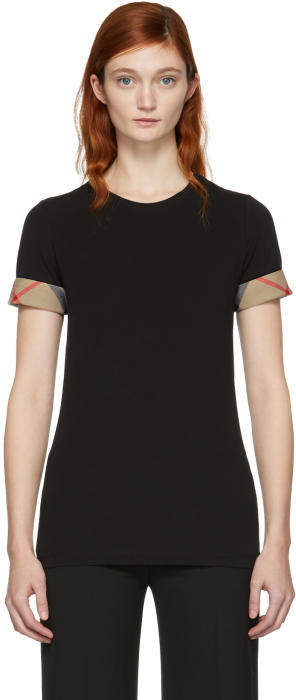 Burberry Black Tartan Band T-Shirt