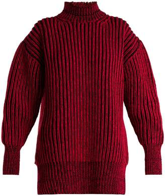 Balenciaga Cable-knit virgin wool sweater
