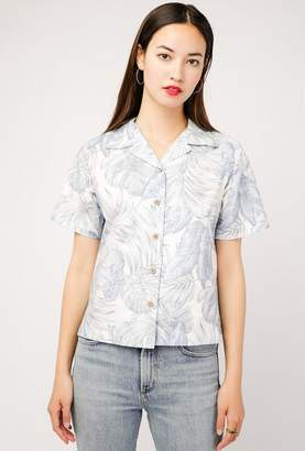 Naked & Famous Denim Tropical Leaves Shirt