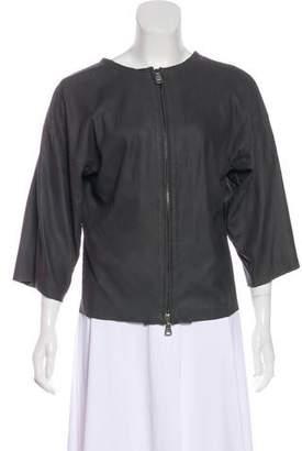 Giorgio Brato Three-Quarter Sleeves Leather Jacket