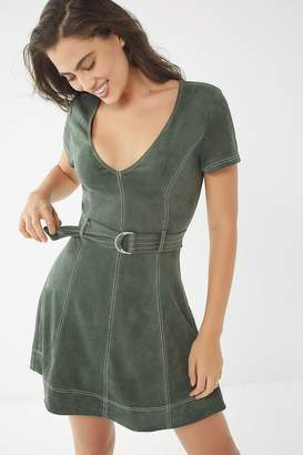 Urban Outfitters Faux Suede Belted Dress