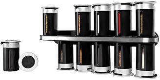 Honey-Can-Do Zevro by Gravity Wall-Mount 12-Canister Magnetic Spice Rack