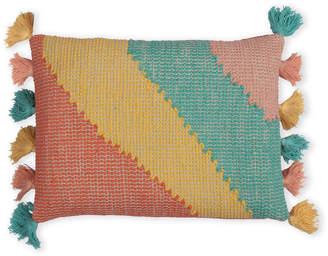 Casa Amarosa Striped Tassel Decorative Pillow