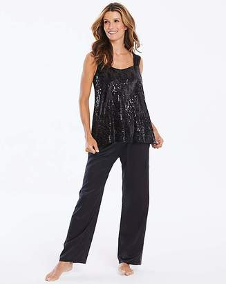 74a8a68627 Joanna Hope Sequined Satin Pyjama Set