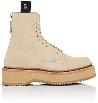 R 13 Women's Single Stack Suede Combat Boots