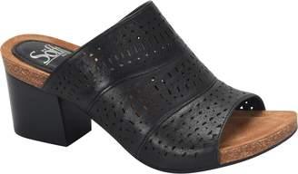 Sofft Leather Slide Sandals - Magnolia